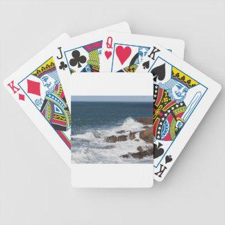 Stormy sea along Tuscany coastline Poker Deck