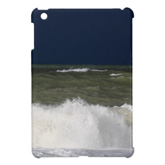 Stormy sea with waves und a dark blue sky. cover for the iPad mini