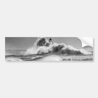 Stormy Seas at Seaham Bumper Sticker