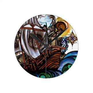 Stormy seas round clock