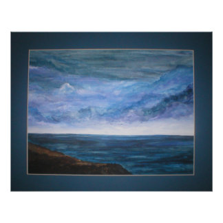 Stormy Skies on canvas Poster