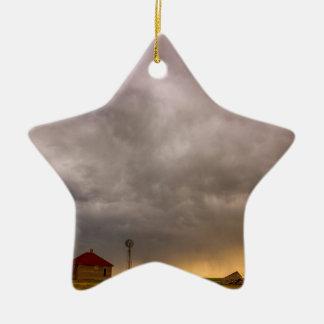 Stormy Skies On The Colorado Plains Ceramic Star Ornament