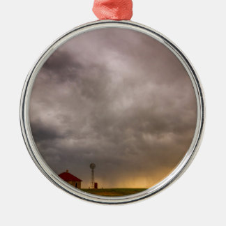Stormy Skies On The Colorado Plains Silver-Colored Round Ornament