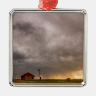 Stormy Skies On The Colorado Plains Silver-Colored Square Ornament