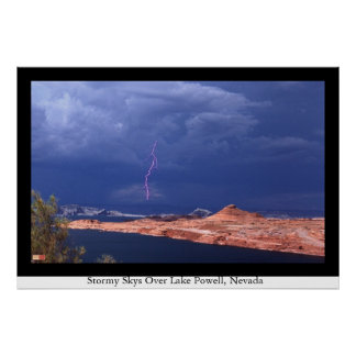 Stormy Skies Over Lake Powell, Nevada Poster