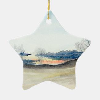 Stormy Sky Ceramic Ornament