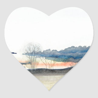 Stormy Sky Heart Sticker