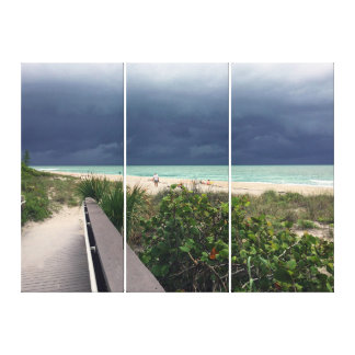 Stormy Sky over Aqua Sea Canvas Print