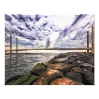 Stormy Sky over the Indian River Bridge Photo Print