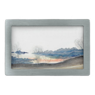 Stormy Sky Rectangular Belt Buckle