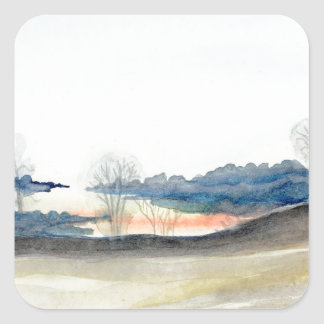 Stormy Sky Square Sticker