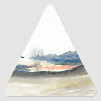 Stormy Sky Triangle Sticker