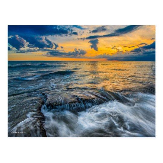 Stormy Sundown Postcard