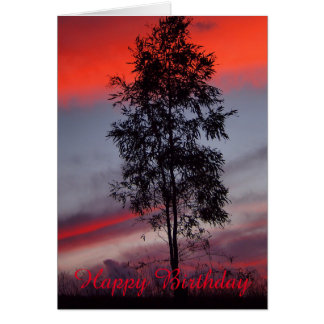 Stormy sunset blank birthday card