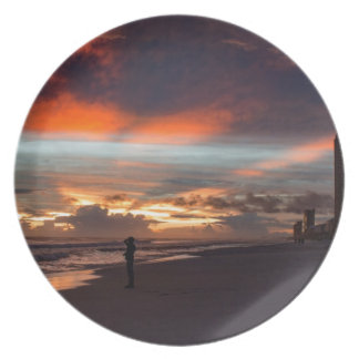 Stormy Sunset Plate