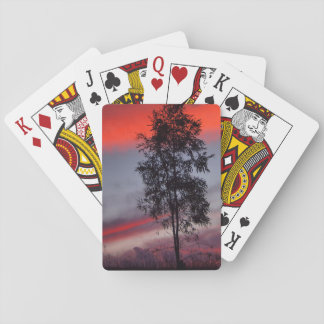 Stormy sunset playing cards