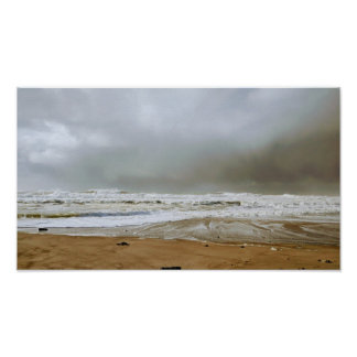 Stormy View at Oregon Coast Poster