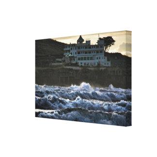 Stormy view, Burgh Island Hotel, Devon Canvas Print