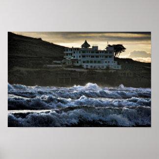 Stormy view, Burgh Island Hotel, Devon Poster