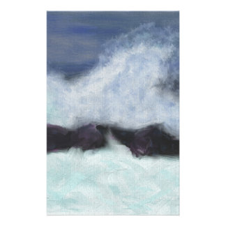 Stormy Waters Art Customized Stationery
