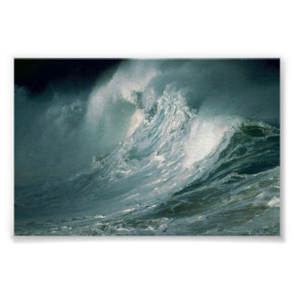 Stormy Waves Poster