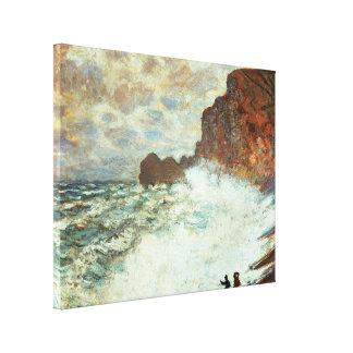 Stormy Weather a Etretat, Rough Sea - Claude Monet Canvas Print
