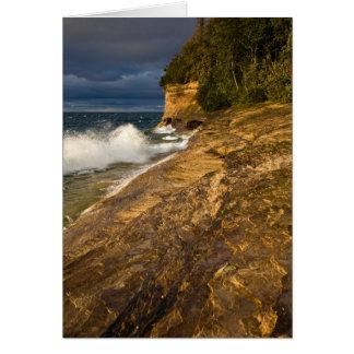 Stormy Weather Crashing Waves Card