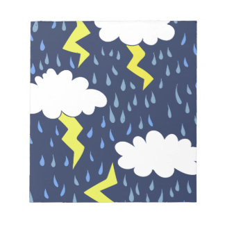 Stormy weather notepad