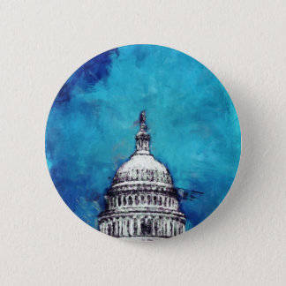 Stormy Weather Over The Capitol 2 Inch Round Button