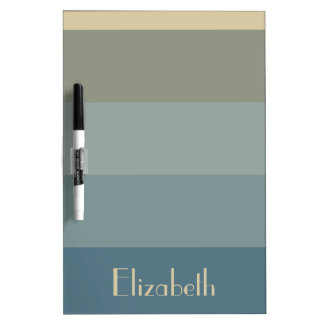 Stormy Weather Palette Stripes Personalized Dry Erase Board