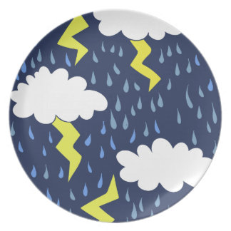 Stormy weather plate