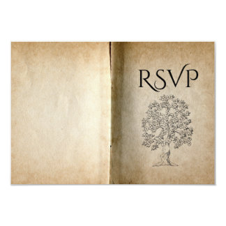 "Story Book Meal RSVP 3.5"" X 5"" Invitation Card"