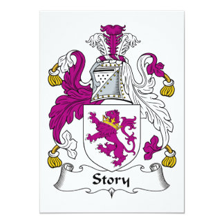 Story Family Crest Personalized Announcement