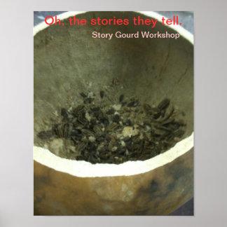 Story Gourd Poster- Workshop-- Seeds Poster