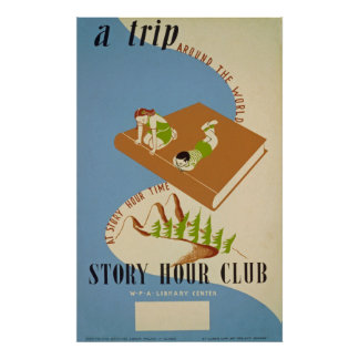 Story Hour Club Vintage Poster