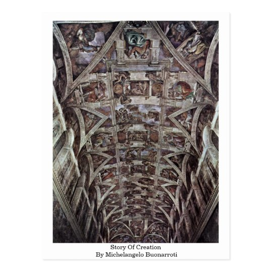 Story Of Creation In Sistine Chapel By Postcard