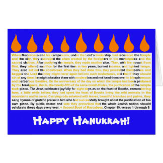 Story of Hanukkah Card