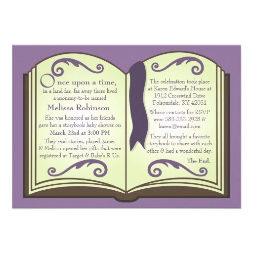 Storybook Baby Shower Invitations