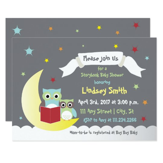 Storybook Baby Shower Invite with Owls