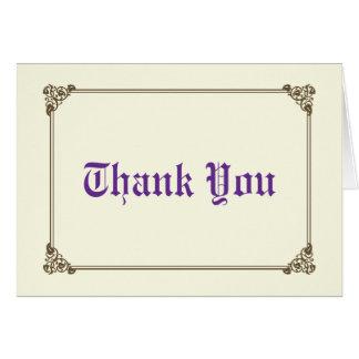 Storybook Fairytale Wedding Thank You Card
