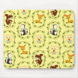 storybook forest mouse pad