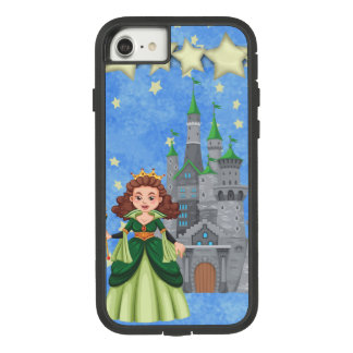 Storybook Princess in Green With Castle and Stars Case-Mate Tough Extreme iPhone 8/7 Case