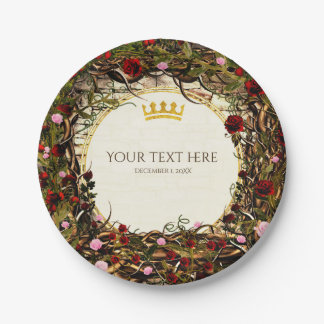 Storybook Princess Vintage Briar Rose Party Paper Plate