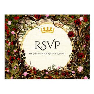 Storybook Princess Vintage Briar Rose RSVP Postcard