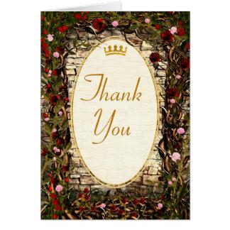 Storybook Princess Vintage Briar Rose Thank You Card