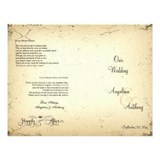 Storyline Formal Wedding Program