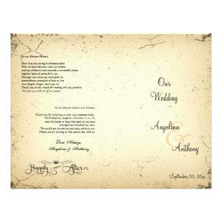 Storyline Formal Wedding Program Full Color Flyer