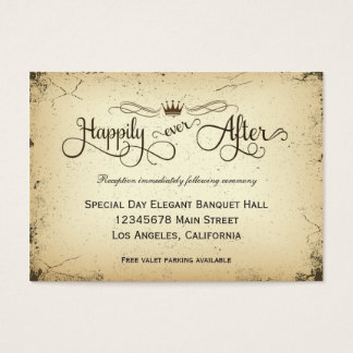 Storyline Formal Wedding Reception Card
