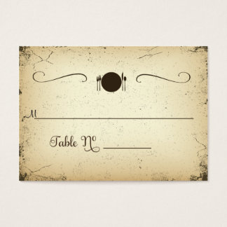 Storyline Formal Wedding Table Place Card
