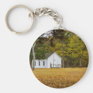 Storys Creek School Basic Round Button Keychain